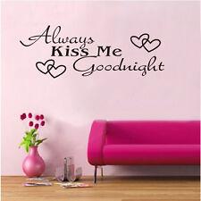 New Always Kiss Me Goodnight Vinyl Wall Sticker Window Decals Home Decoration