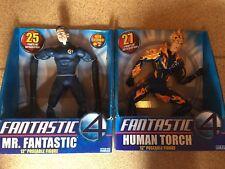 """Toys Biz cuatro fantásticos Sr. la Antorcha Humana 12"""" figuras"""