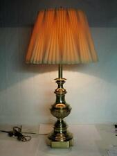 All Original 60s REMBRANDT MASTERPIECE Brass Table Lamp w/ ORIG. PLEATED SHADE