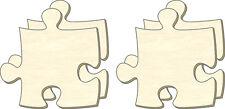 Blanc Puzzle infini, Taille L, Set 4 Pièces, Pièces de Puzzle en bois, Dessiner