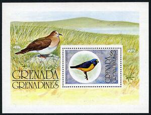 Grenada Grenadines 152 s/s, MNH. Blue-hooded euphonia, 1976