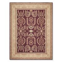 """8'6"""" x 11'6"""" Hand Hooked French Aubusson 100% Wool Oriental Area rug Aubergine"""