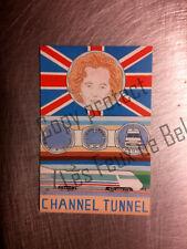 CHANNEL TUNNEL THATCHER PATRICK HAMM 1990 carte postale pirate  postcard