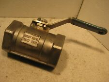 Jamesbury series 100 stainless steel ball valve 2000 WOG