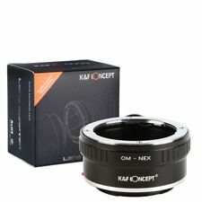 K&F Concept Adapter for Olympus OM Lens to Sony NEX E Mount NEX-5 NEX-3 w/Tripod