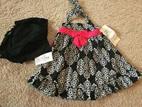 New Rare Editions Little Girls 2 piece Dress&Diaper Cover Set. Sz 24 Months