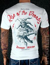 YAKUZA Premium T-Shirt 2506 Weiss M L XL XXL 3XL 4XL Herren Shirt Rise of Crooks