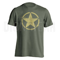 Army Star Distressed Military WWII Vietnam Jeep Offroad T-shirt S M L XL 2XL 3XL