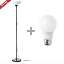 IKEA Floor Standing Reading Light Uplighter Black 1 Lamp & 1 Bulb