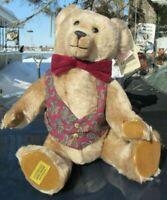 VINTAGE GROWLER TEDDY BEAR MERRYTHOUGHT ENGLAND MOHAIR MORTIMER MUDDLE HEAD CUTE