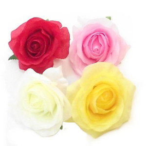 9cm Yellow Artificial Rose Heads Flowers Fake Wedding Home Party Decor