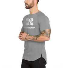 Men's Clothing Printed Cotton Pullover Short Sleeve  Loose Sports Shirt