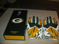 Nike Vapor Fly On Field Green Bay Packers Football Gloves XL Never Used