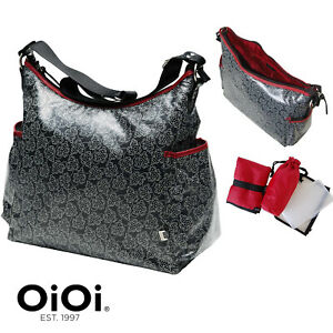 New OIOI LAMINATED LEAF BABY CHANGING Nappy Designer Diaper Change BAG