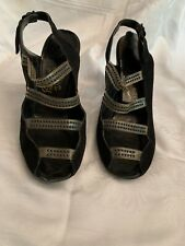 Vintage 1940s Barbara Lee Deluxe Womens Slingback open toe Shoes size 71/2 M 00006000