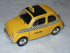 Welly Fiat Nuova 500 New York City Taxi Cab 1:24 Yellow Free Ship