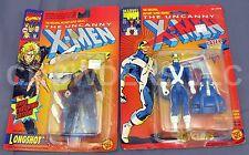 "Marvel Comics Uncanny X-Men CYCLOPS & LONGSHOT 5"" Action Figures ToyBiz NIP '91"