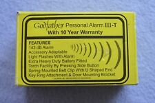 Godfather Personal Alarm III-T in Original Box