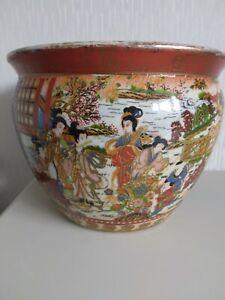 Vintage Chinese Fish Bowl, Plant Jardinière.