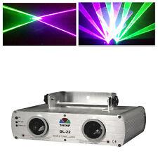Laser Stage Light Shinp 250mW Purple + Green Lighting DMX512 Disco Party KTV DJ