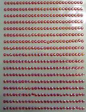 440 STRASS ADESIVI COLORE ROSSO BOREALE 3 mm  CORPO UNGHIE NAILART DECORAZIONI