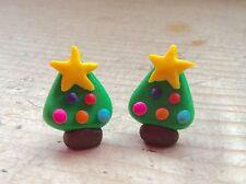 Aretes Piercings para árboles de Navidad festiva Hecho A Mano Navidad Fiesta llenador de la media