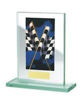 Glas-Pokal mit farbigem Hologramm (WH511-Motorsport) inkl. Gravur nur 17,75 EUR