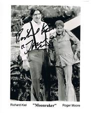 "James Bond (Jaws) RICHARD KIEL ""Moonraker "" Signed 8x10 pic with Roger Moore"