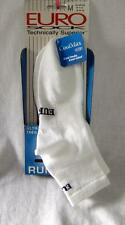 Euro Unisex Ultra Light Marathon Running Socks Color white Size Medium NEW