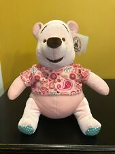 "DISNEY PARKS Plush PAISLEY POOH Bear Pink Winnie Stuffed Animal Toy 12"" NWT"