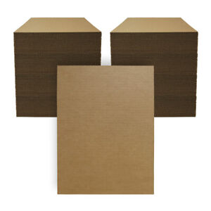 """200 - 12""""x16"""" Corrugated Cardboard Kraft Pads/Inserts/Sheets 32 ECT Made in USA"""