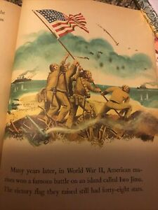 """C.1960 Vintage Little Golden Book ~ OUR FLAG ~""""A"""" ed. Beautiful Illustrations"""
