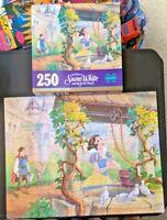 Walt Disney Snow White & Seven Dwarfs Puzzle - 250 PC - 100% Complete - Golden