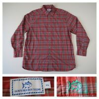 Southern Tide Classic Fit Mens Plaid Rust Button Front L/S Casual Shirt XL