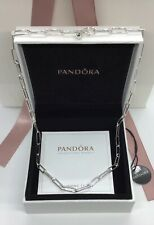 Pandora Long Link Cable Chain Necklace 17.7in ALES925 FREE GIFT BOX