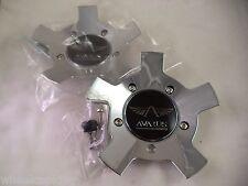 Avarus Savini Wheels Chrome Custom Wheel Center Caps # MS-CAP-Z214 (2 CAPS)