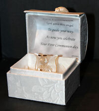 Cellini Gifts First Holy Communion Prayer Chest Boy Girl Crystal Angel Poem #4