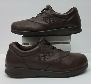 SAS Free Time Womens Sz 8.5 W Tripad Comfort Brown Leather Lace Up Oxford Shoes