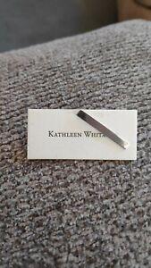 Kathleen Whitaker Sterling Long Bar Stud Earring