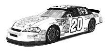 """Tony Stewart Home Depot NASCAR illustration 16x20"""" Automotive wall art."""