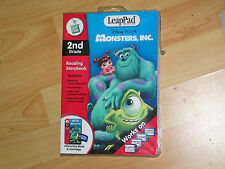 New LeapPad Leap Frog Reading StoryBook Monsters Inc 2nd Grade Book & Cartridge