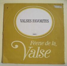 """33T VALSES FAVORITES LP 12"""" Orch. VIENNE Reg OWEN - FEERIE VALSE Disque N° 7"""