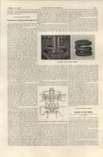 1920 Concrete Housing For Hydraulic Turbo Generator Spring Thrust Bearing