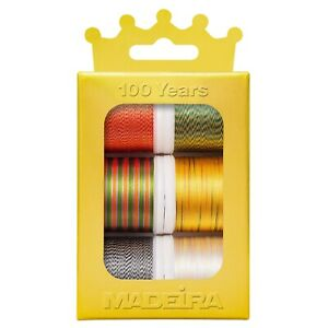 MADEIRA 6 x 200m RAYON 40 SEWING THREAD CROWN BOX VARIEGATED COLOURS - 100 YEARS