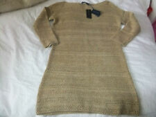 RALPH LAUREN LINEN/SILK SWEATER DRESS/JUMPER HEMP SIZE S>ORGANIC<RUSTIC TEXTURED