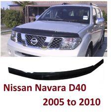 Fit NISSAN NAVARA D40 2005-10 BONNET GUARD PROTECTOR BUG SHIELD BLACK **UK