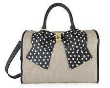 Betsey Johnson Heart Quilted Carry on Weekender Travel Duffel Bag BMW1185