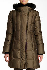 NWT $585 Soia & Kyo Balita Hooded Down Coat Military Green [SZ Medium M] #N70
