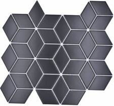 Keramikmosaik Mosaikfliesen Schwarz 3D-Würfel Matt Fliesenspiegel | 10 Matten