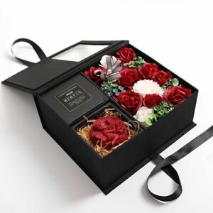 Soap Rose Gift Ornaments 2 Storey Necklace Jewelry Box Flower Wedding Party Gift